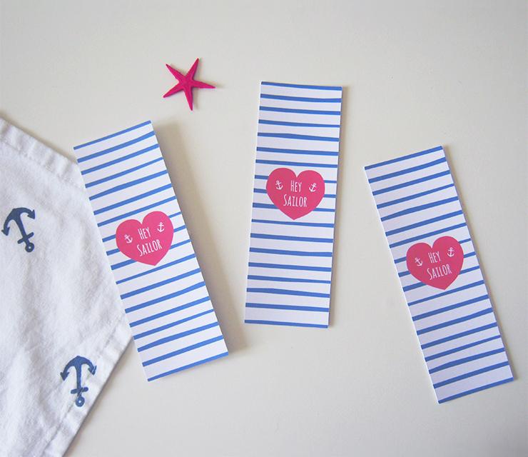 Extrem À imprimer : Le marque-page Hey Sailor JQ91
