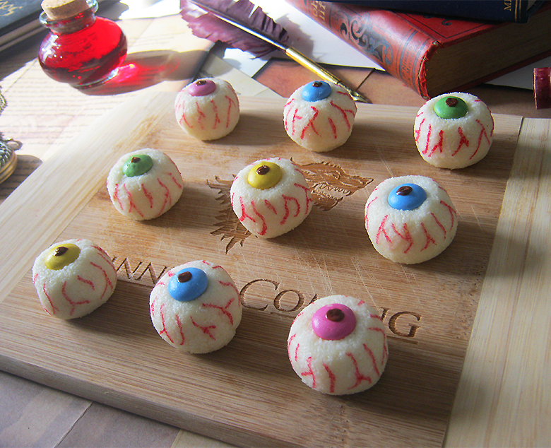 recette des yeux coco smarties pour halloween. Black Bedroom Furniture Sets. Home Design Ideas