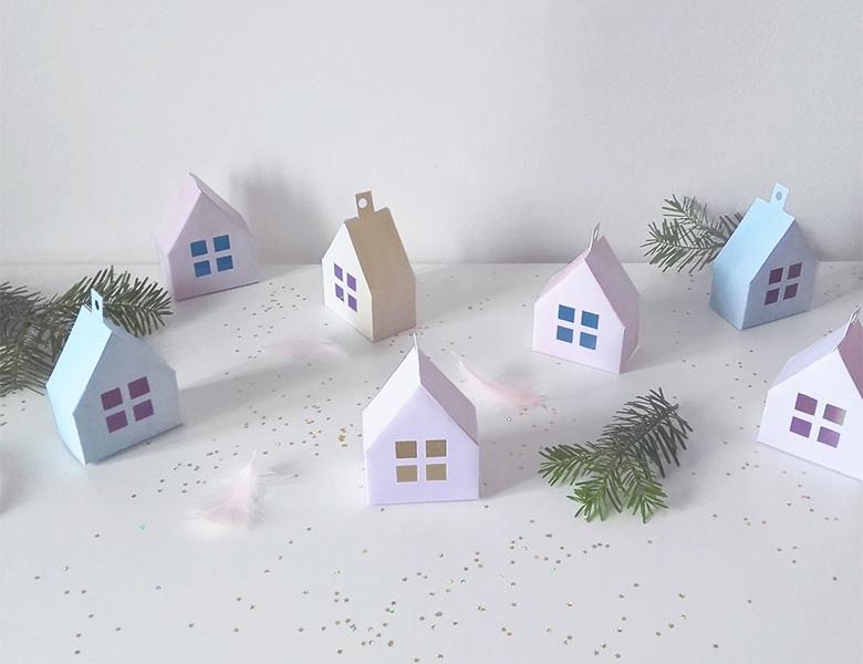 imprimer un petit village de no l dans mon sapin. Black Bedroom Furniture Sets. Home Design Ideas